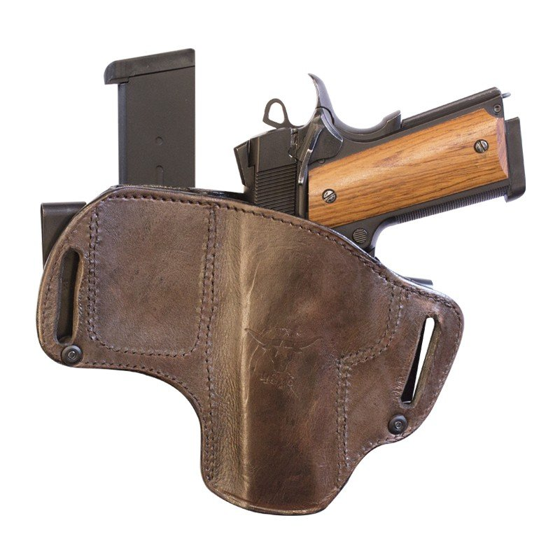 TX-DCH-MC - Texas Dual clip holster with magazine holder.