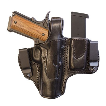 TX-TB-DCH-MC - TEXAS THUMB BREAK DUAL CLIP HOLSTER WITH MAGAZINE HOLDER.