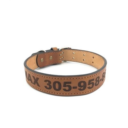 DGC-CUS - CUSTOM NAME LEATHER DOG COLLAR